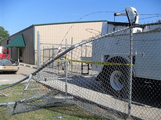 Steel Chain Link Fencing securing a commercial fleet