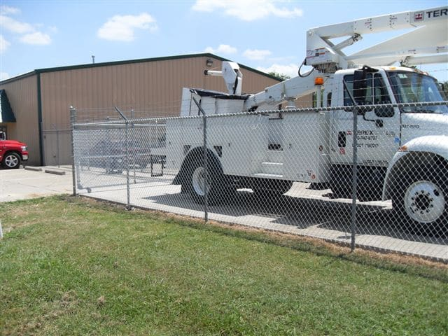 Steel Chain Link Fencing protecting a truck
