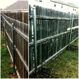 Broken Wood Posts Aaa Burleson Fence