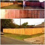 1x4 Cedar Privacy Fence