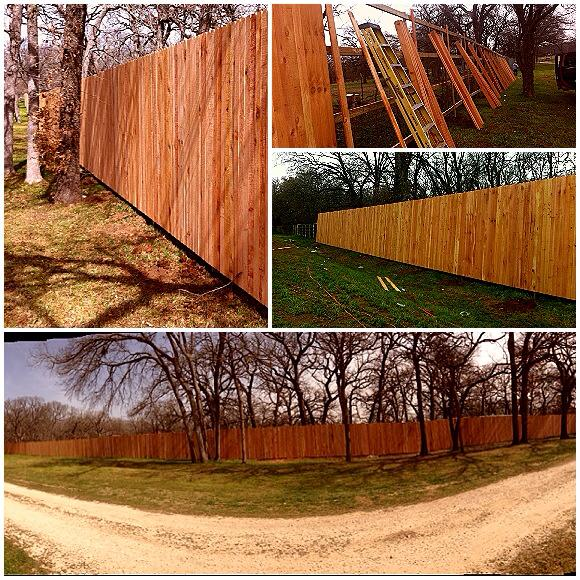 8 ft cedar privacy fence
