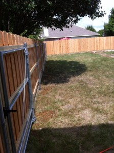 6 ft board on board with gate frames