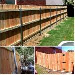6 ft tall cedar fence