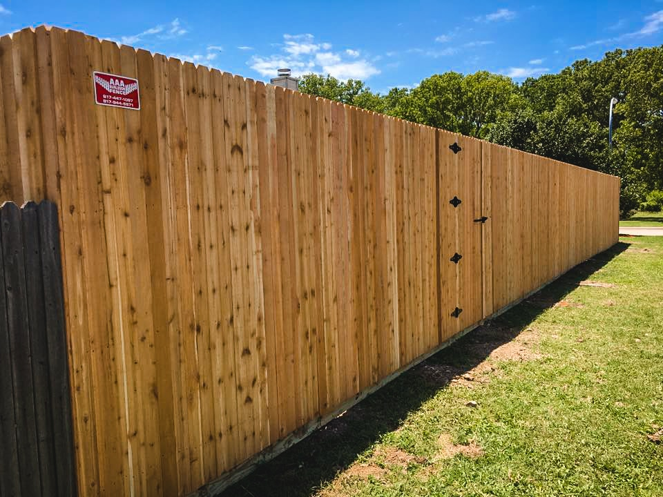 8-foot cedar fence with 1x4x8 pickets.